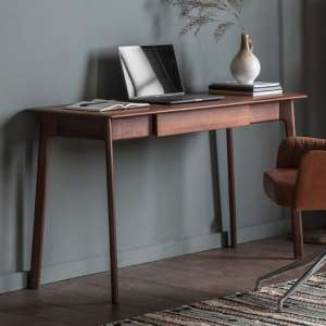 Madrid Wooden 1 Drawer Laptop Desk In Walnut