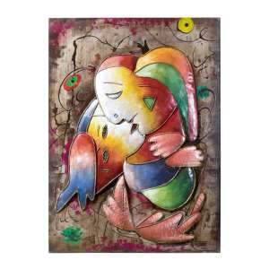 Maestro Picture Metal Wall Art In Multicolor And Red