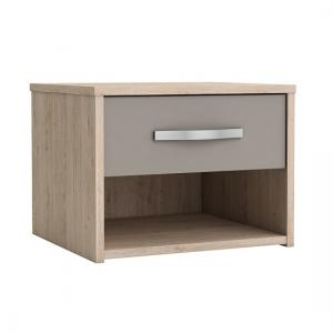 Magnum Bedside Cabinet In Arizona Oak And Clay
