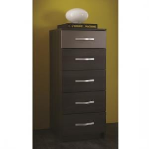 Magnum Chest of Drawers In Vulcano Oak And Basalt