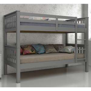 Magnus Wooden Bunk Bed In Grey