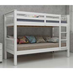 Magnus Wooden Bunk Bed In White