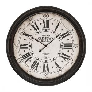 Magnus Round Wall Clock In Black