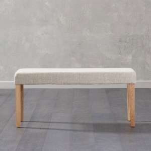 Maiya Small Dining Bench In Cream