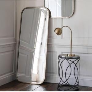 Malcolm Leaner Rectangular Floor Mirror With Metal Frame