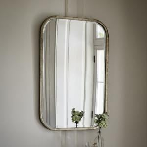 Malcolm Rectangular Wall Mirror With Metal Frame