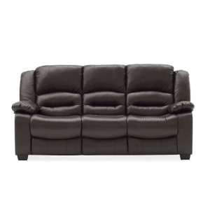Malou Recliner 3 Seater Sofa In Brown Faux Leather