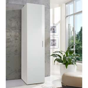 Malta Large Wooden Wardrobe In High Gloss White