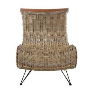 Hunor Kubu Rattan Lounge Chaise Chair In Grey