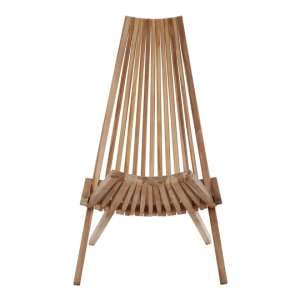 Hunor Teak Wooden Lounge Chair In Natural Finish
