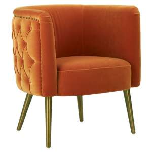 Intercrus Fabric Tub Chair In Orange