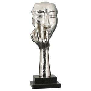 Mannequin Aluminium Sculpture In Antique Silver And Black