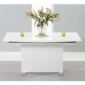 Marila Extending Wooden Dining Table In White High Gloss