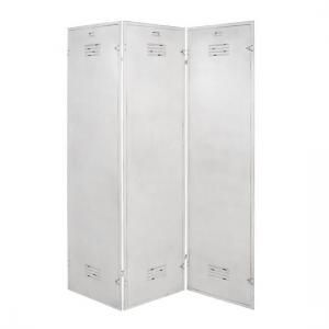 Marissa Metal Room Divider In Antique White
