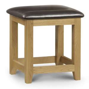 Marlborough Dressing Table Stool With Waxed Oak Legs