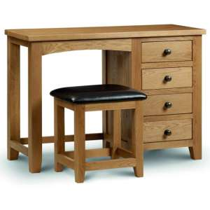 Marlborough Single Pedestal Dressing Table In Waxed Oak