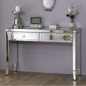 Marnie Rectangular Mirrored Dressing Table With 2 Drawers