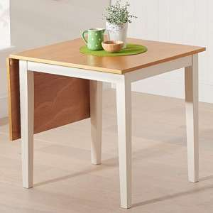 Maro Extending Wooden Dining Table In Light Oak And Cream