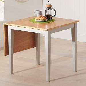 Maro Extending Wooden Dining Table In Light Oak And Grey