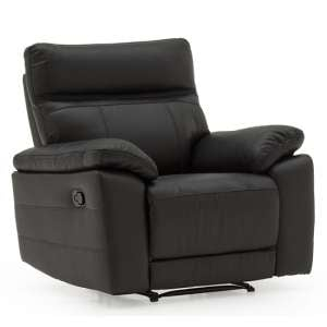Marquess Recliner Sofa Chair In Black Faux Leather