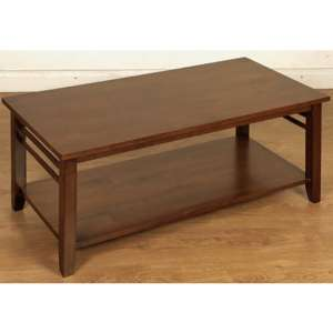 Marsic Wooden Coffee Table In Dark