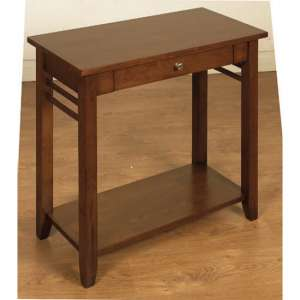 Marsic Wooden Side Table In Dark
