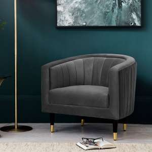 Martino Modern Fabric Armchair In Mirage Velvet