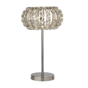 Marylin 1 Bulb Table Lamp In Chrome With Crystal Glass