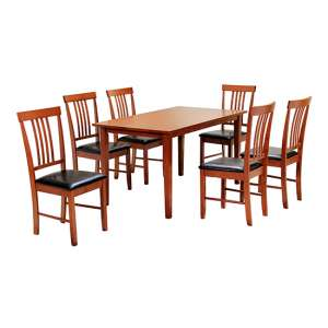 Massa Large Dining Set In Mahogany With 6 Chairs