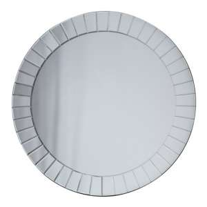 Matlock Large Round Wall Bedroom Mirror In Silver