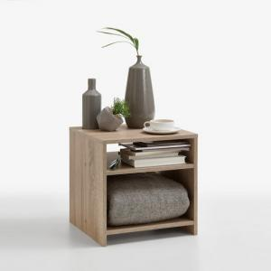 Mattis Compact Wooden Side Table In Canadian Oak