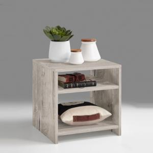 Mattis Compact Wooden Side Table In Sand Oak