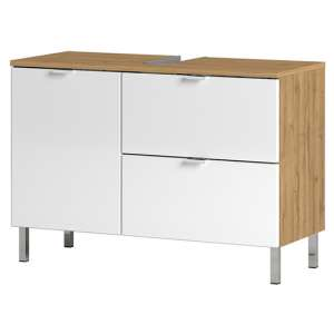 Mauresa Wide Basin Vanity Unit In Grandson Oak And White