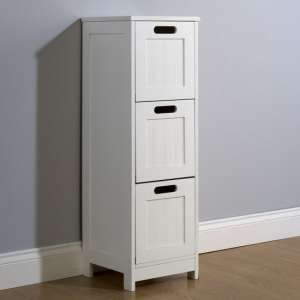 Maxima Wooden Chest Of Drawers Slim In White With 3 Drawers