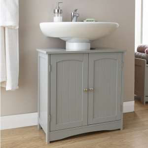 Maxima Wooden Vanity Unit In Grey With 2 Doors
