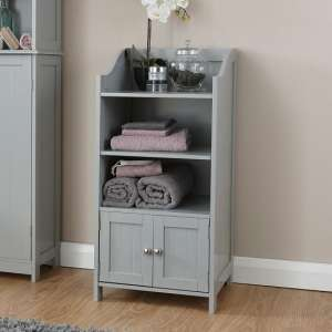 Maxima Wooden Storage Cupboard In Grey With 2 Doors