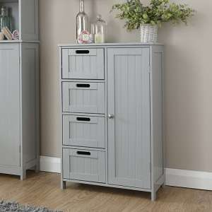 Maxima Wooden Bathroom Storage Unit In Grey With 1 Door