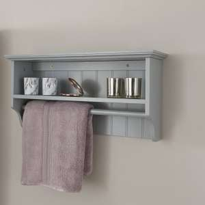 Maxima Wooden Wall Mounted Display Shelf In Grey