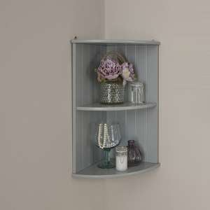 Maxima Wooden Wall Mounted Shelving Unit In Grey