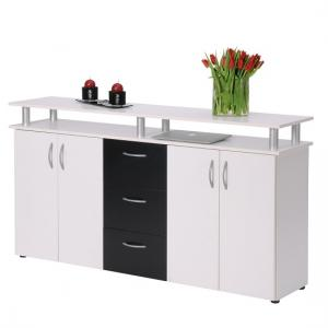 Maximo Sideboard In White And Black With 4 Doors