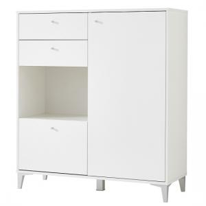 Mayan Shoe Cabinet In White With 3 Drawers And 1 Door