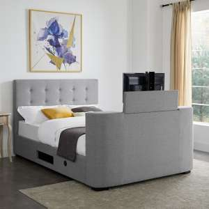 Mayfair Fabric TV King Size Bed In Grey