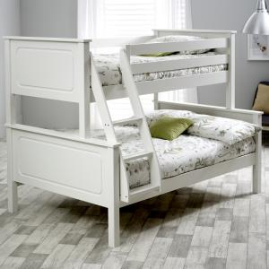 McKenzie Wooden Triple Sleeper Bunk Bed In White Pine