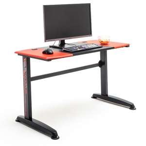McRacing Wooden Computer Desk In Black And Red