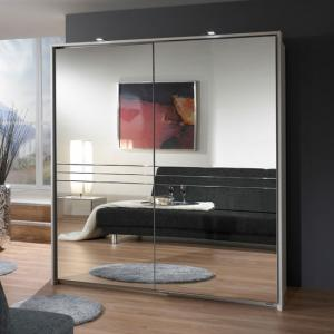 Medeira Sliding Wardrobe In Alpine White With 2 Mirrored Door