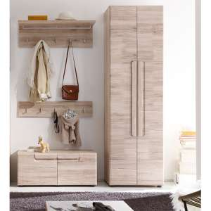 Melay Wooden Hallway Furniture Set 1 In San Remo Light Oak