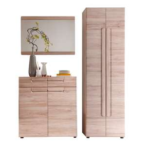 Melay Wooden Hallway Furniture Set 11 In San Remo Light Oak