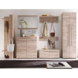 Melay Wooden Hallway Furniture Set 12 In San Remo Light Oak