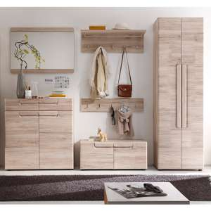 Melay Wooden Hallway Furniture Set 13 In San Remo Light Oak