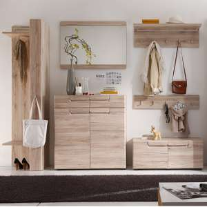 Melay Wooden Hallway Furniture Set 2 In San Remo Light Oak